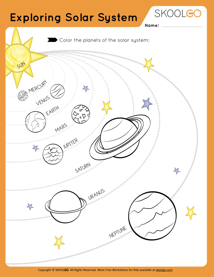 Exploring the Solar System - Free Worksheet