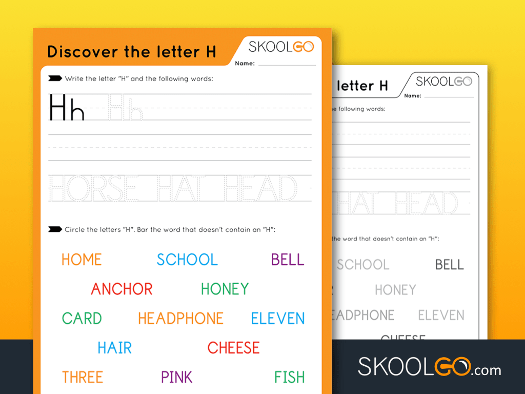 Free Worksheet for Kids - Discover The Letter H - SKOOLGO