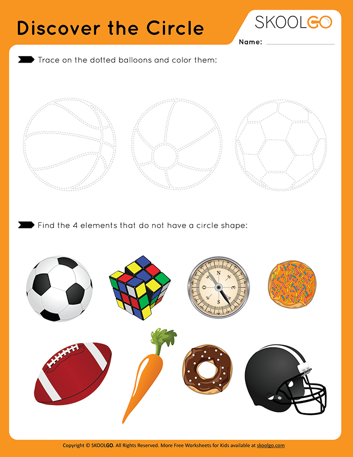 Discover The Circle - Free Worksheet for Kids