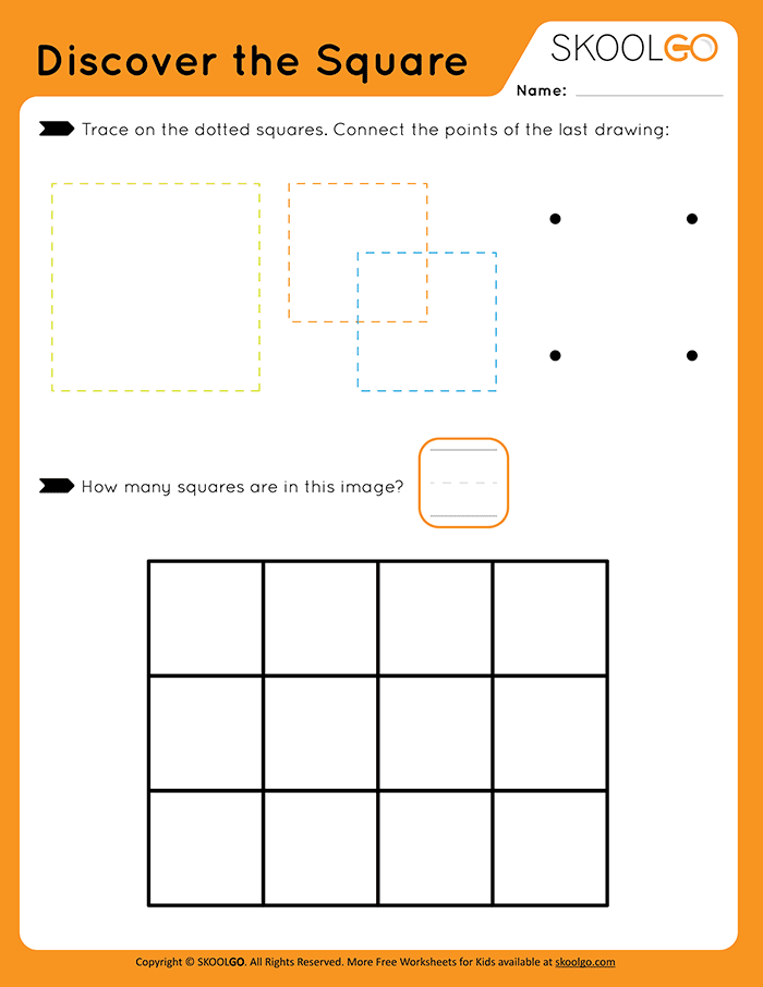 Discover The Square - Free Worksheet for Kids