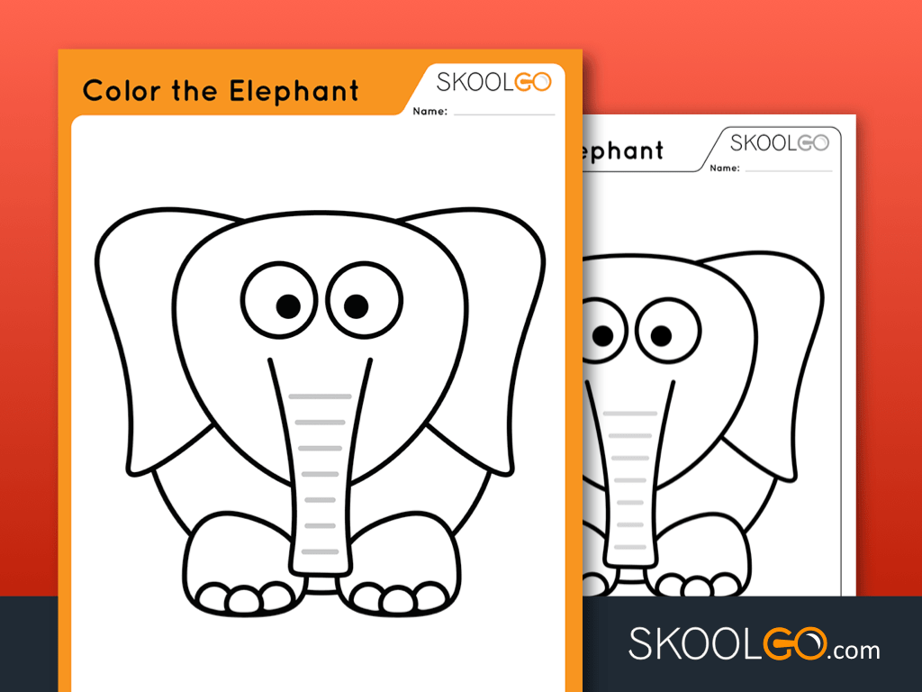 Color The Elephant Free Worksheet For Kids By Skoolgo Com Choose from over a million free vectors, clipart graphics, vector art images, design templates, and illustrations created by artists worldwide! color the elephant free worksheet for