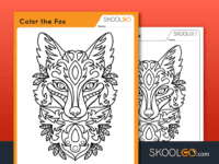 Free Worksheet for Kids - Color The Fox - SKOOLGO