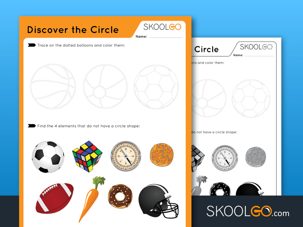Free Worksheet for Kids - Discover The Circle - SKOOLGO