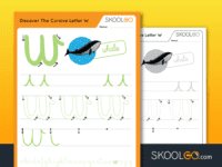 Free Worksheet for Kids - Discover The Cursive Letter W - SKOOLGO