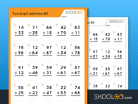 Free Worksheet for Kids - Two Digit Addition 3 - SKOOLGO