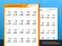 Free Worksheet for Kids - Two Digit Addition 5 - SKOOLGO