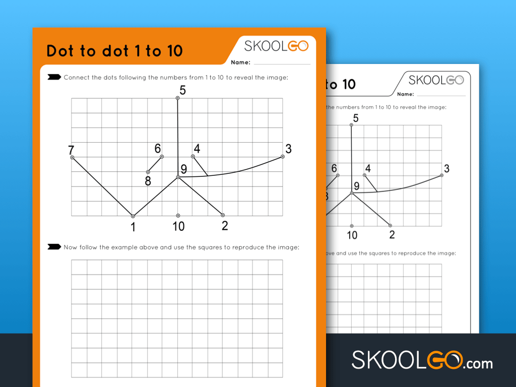 Free Worksheet for Kids - Dot to Dot 1 to 10 - SKOOLGO